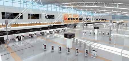 ICM Airport Technics has supplied its self-service baggage drop system to Qantas as part of the airline's Next Generation Check-In programme.
