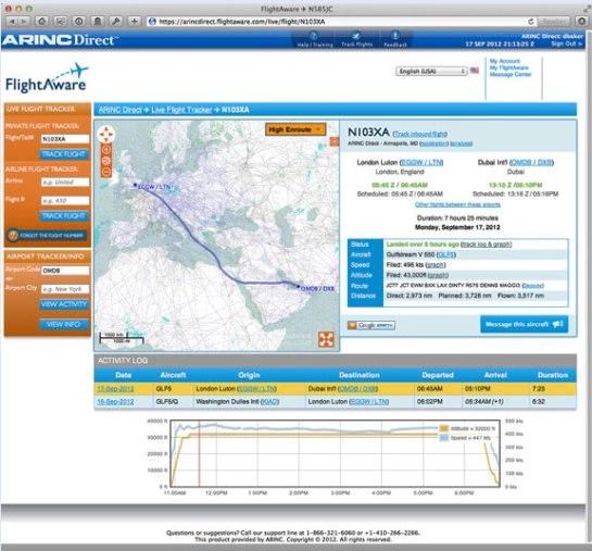 NBAA 2012 ARINC & FlightAware