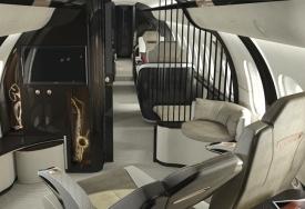 business jet cabin