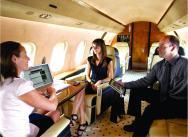 Business Passengers Enjoy Full Connectivity